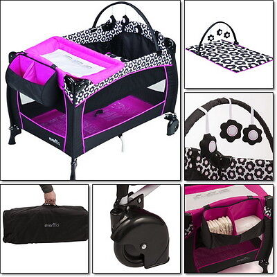 Infant Cradle Bassinet Sleeper Travel Baby Center Play Yard Crib Portable Bag