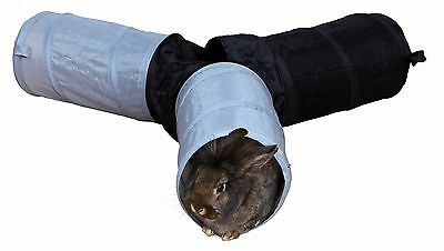 Grand Pliable 3 Voies Jouer Tunnel pour Chinchillas & Lapins