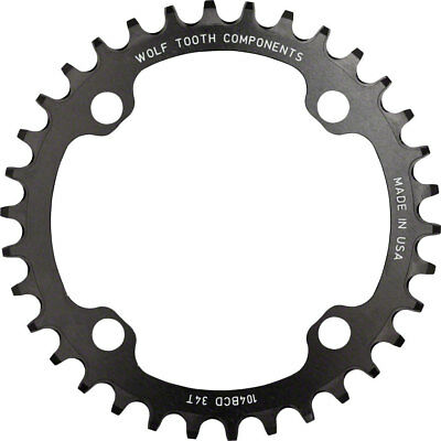 NEW Wolf Tooth Components 34t 104bcd Drop-Stop Chainring Black