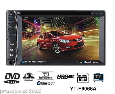 Autoradio 2 Din Gps Monitor Tv Cd Dvd Stereo 7' Touchscreen Bluetooth Mp3 Usb Sd