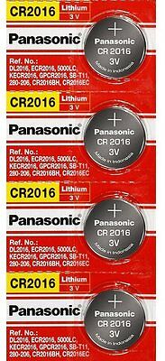 4 x PANASONIC CR 2016 CR2016 ECR2016 LITHIUM COIN CELL Button Battery Exp 2028