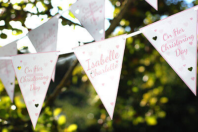 personalised confirmation bunting baptism christening naming day - any occasion