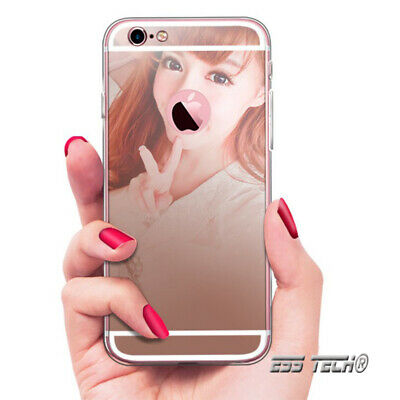 Coque miroir iphone 6 plus et 6+S effet luxe Rose champagne cristal tpu silicone