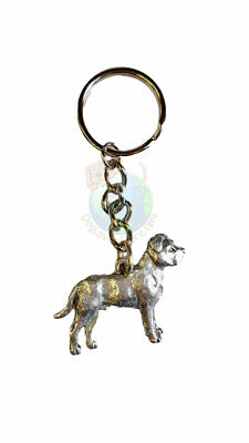 Pitbull Keychain Pewter Uncropped