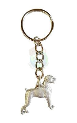 Boxer Keychain Key Chain Ring Fine Pewter Uncropped