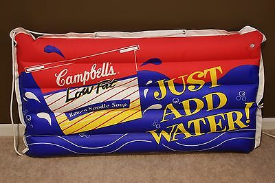Vintage Campbell's Soup Promotional Collectible Inflatable Raft / Float