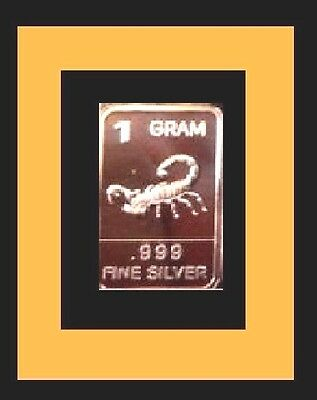 New 1 gm. Whason Mint .999 silver bar -    The Scorpion    ++ADD-ONs allowable !