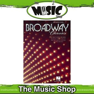 New Broadway Classics Music Book for Big Note Piano
