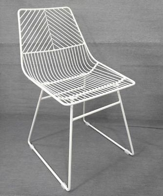 NEW Sive Indoor Wire Bend NET Chair Cafe Seat Dining Replica White