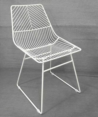 Sive Indoor Wire Bend NET Chair Cafe Seat Dining Replica White