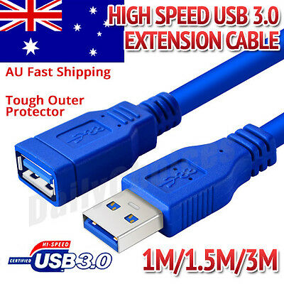 1M/1.5M/3M 5FT USB 3.0 SuperSpeed Extension Cable Insulation Protected Gold Plat