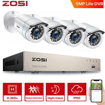 ZOSI 8CH 720P HDMI DVR 1500TVL IR Outdoor CCTV Home Security Cameras System 1TB