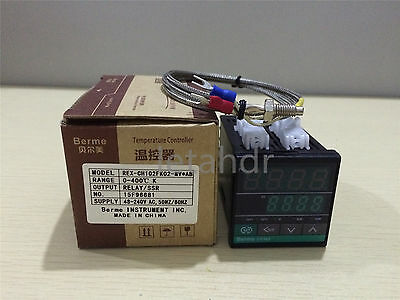 PID Temperature Controller REX-CH102 Relay/SSR Output + K type thermocouple