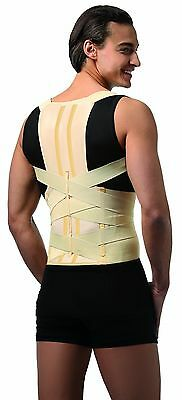 """FULL BACK MEDICAL POSTURE CORRECTOR/LUMBAR SUPPORT-With Stiff modeled inserts"""