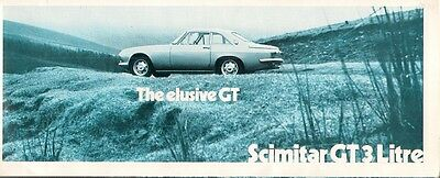 Reliant Scimitar 3-Litre GT 1969-70 UK Market Sales Brochure