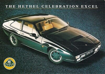 Lotus Excel Hethel Celebration Limited Edition 1991 UK Market Sales Brochure
