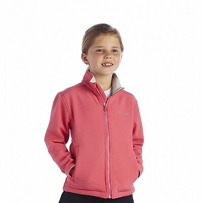 Regatta Canto Girls Water Repellent Warm Backed Softshell Jacket Pink 9-10