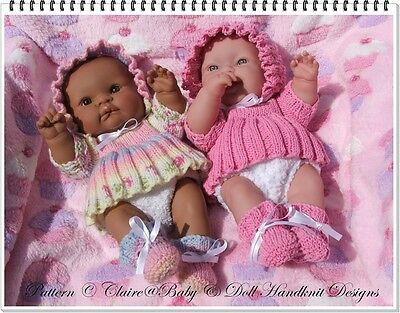"Babydoll Handknit Designs Knitting Pattern Ll3 14"" Lots To Love Berenguer Doll"