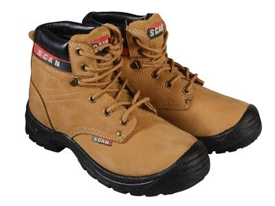 Scan SCAFWCOUG9 Cougar Nubuck Safety Boots S1P UK 9 Euro 43
