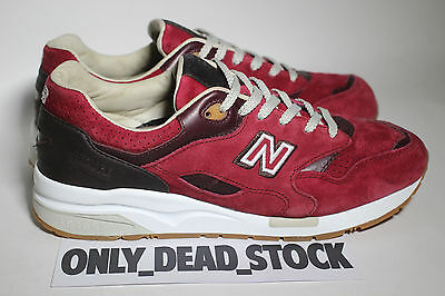 NEW BALANCE 1600 BARBERSHOP PACK 105 US 445 EUR 10 UK BURGUNDY CM1600LT 1600LT