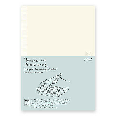 Midori MD Notebook - A5, Grid Paper  English Version