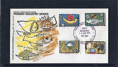 1972 Primary Industries Set Of 4 FDC, Very Good Condition