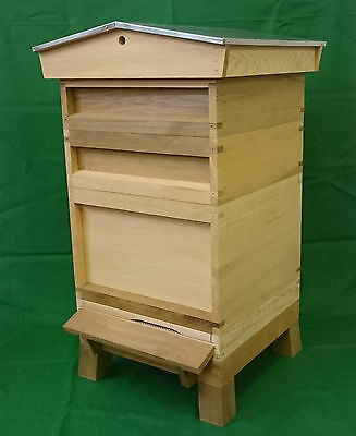 14 x 12 National Beehive with Gable roof, Stand and Frames/Wax - FULLY ASSEMBLED