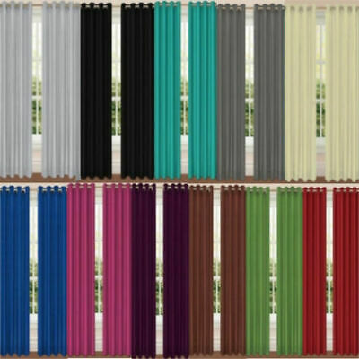 Thermal Blackout Ready Made Eyelet & Pencil Curtains - Dimout Energy Saving