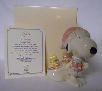 2002 Lenox Peanuts Figurine Collection Snoopy Claus