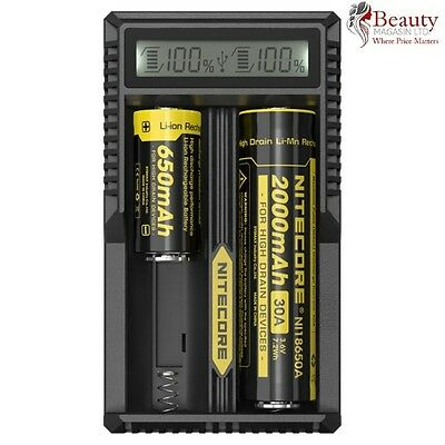 Nitecore UM20 LCD Intelligence USB Powered Charger for Li-ion IMR 18650 Battery