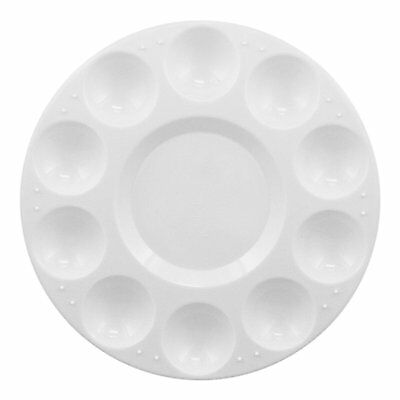 10-Well Round Plastic Palette white S*