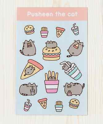 Hey Chickadee Pusheen Fast Food sticker sheet PU-31