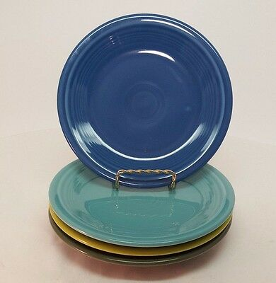 Fiestaware mixed colors Salad Plate Lot of 4 Fiesta 7.25 inch small plate 4C3M18
