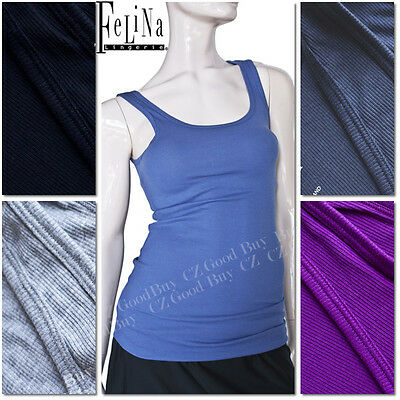 2 PACK Felina  Women Ribbed Knit Tank Soft Top Multiple Color green stripes
