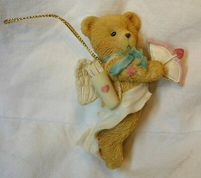 Cherished Teddies Flying Cupid Ornament-Mib