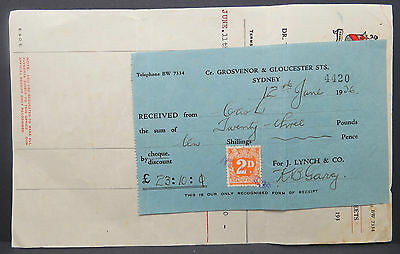 Australia Sydney Australien 2D New South Wales Hotel Bill Rechnung (Lot # 9595