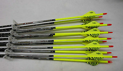 1 Dozen Easton Full Metal Jacket 300 black fletched carbon arrows w/blazers!!