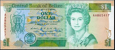BELIZE 1 Dollar 1990 P-51 UNC uncirculated banknote