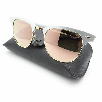Ray Ban 3507 137/7O Brushed Silver Gold Copper Mirror New Sunglass Authentic