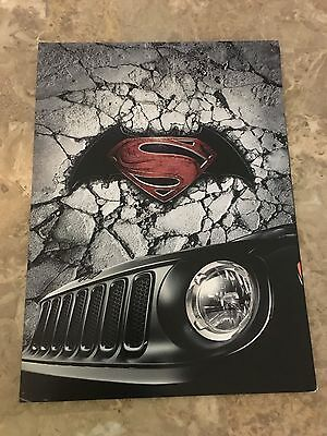 "2016 JEEP RENEGADE ""DAWN of JUSTICE"" 8-page Original Sales Brochure and Poster"