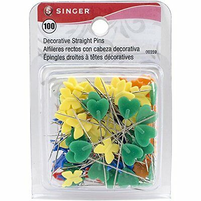 Singer Decorative Head Straight Pins, 100-Count