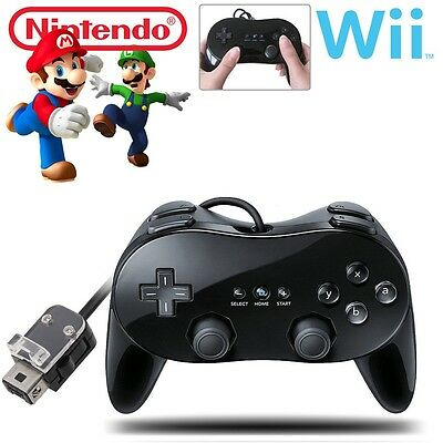 New Pro Classic Game Controller Pad Console Joypad For Nintendo Wii Remote Black