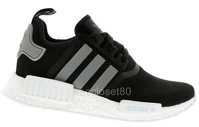 3e7fbbe6c Adidas NMD R1 Runner Boost S31504 Black Solid Grey Mens Trainers Mesh