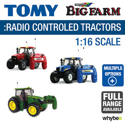 Tomy 1:16 Britains Big Farm Toys Radio Controlled Tractors Full Range Brand New
