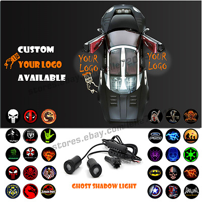 LED Car Door Welcome Customize Your Logo Laser Projector Ghost Shadow Cree Light