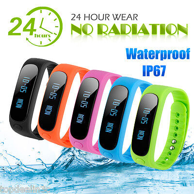 Smart Bracelet Bluetooth Waterproof Pedometer Fitness Tracker for Android IOS