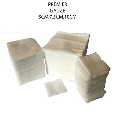 Premier Approved Non-Sterile First Aid 8 Ply Quality Gauze Blood Swabs 100 Pack
