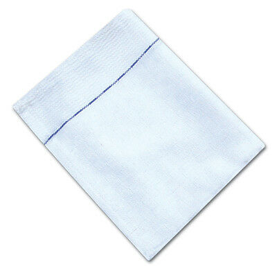 Pack Of 10 Catering Waiters Waitress Cloths With Blue 100% Cotton Diced Weave