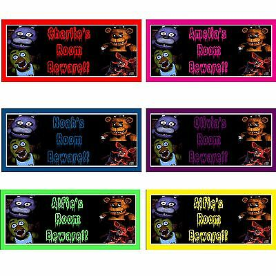 fnaf Five Nights at Freddys personalised wooden handmade sign birthday gift idea