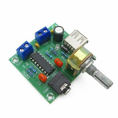 1PCS 5V mini power amplifier AC/DC USB power supply 5W*2 Hi-FI PM2038 board